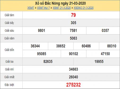 Soi cầu xổ số Đắc Nông 28/3/2020, chốt số tỷ lệ trúng lớn