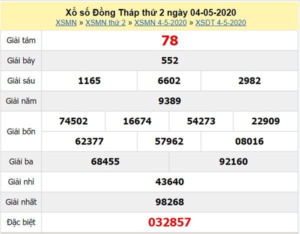 Soi cầu XSDT 11/5/2020 - KQXS Đồng Tháp thứ 2 hôm nay