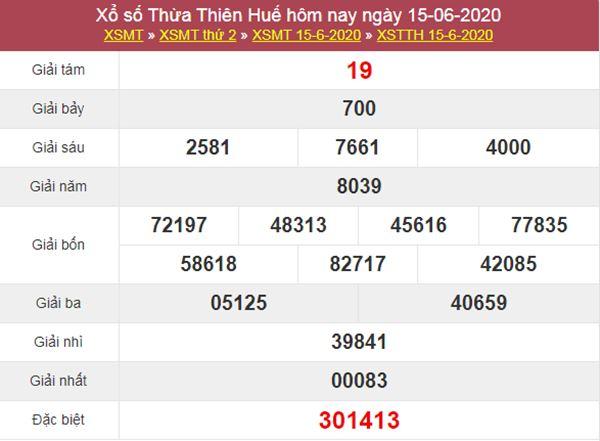 Soi cầu XSTTH 22/6/2020 - KQXS Thừa Thiên Huế thứ 2
