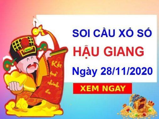 Soi cầu XSHG ngày 28/11/2020 soi cầu VIP xổ số Hậu Giang hôm nay
