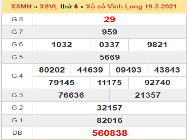 Soi cầu XSVL 26/2/2021