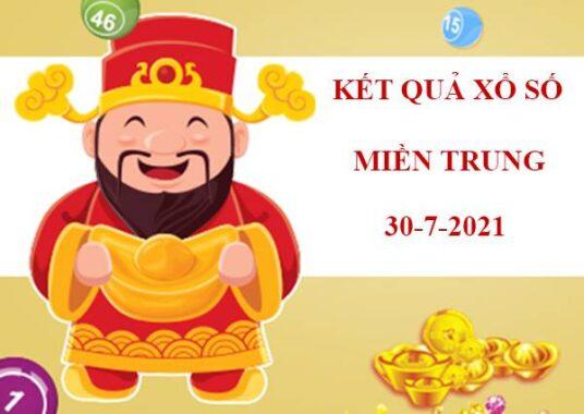 Soi cầu KQXS Miền Trung thứ 6 ngày 30/7/2021