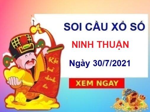Soi cầu XSNT ngày 30/7/2021 chốt số Ninh Thuận thứ 6