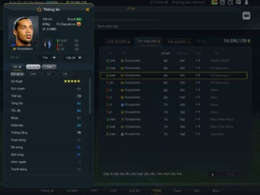 Top 5 LW hay nhất Fifa Online 3 không thể nào bỏ lỡ