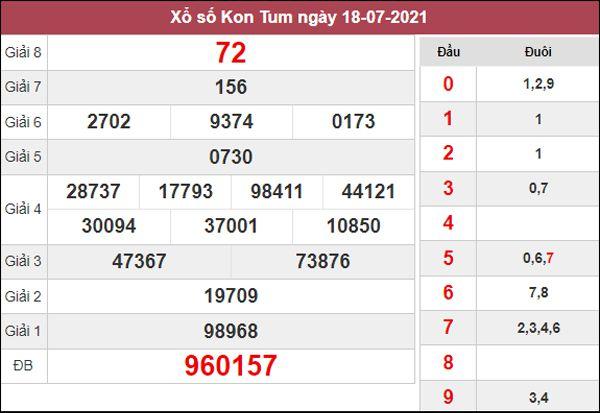 Soi cầu KQXS Kon Tum 25/7/2021 chốt bạch thủ lô Kon Tum