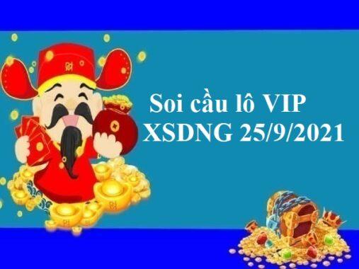 Soi cầu lô VIP KQXSDNG 25/9/2021 hôm nay