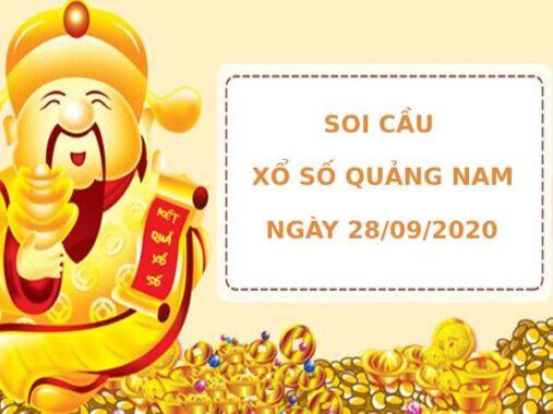 Soi cầu xổ số Quảng Nam 28/9/2021 thống kê XSQNM chính xác